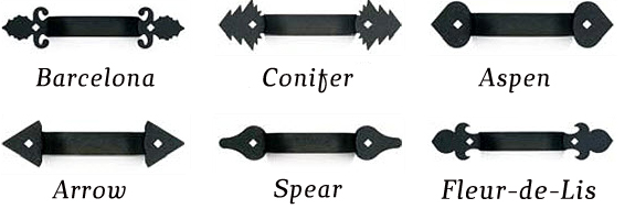 all county garage doors decorative hardware handles