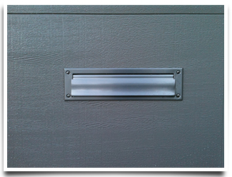 Garage Door mail slot accessory