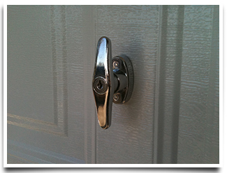 garage door t handle lock